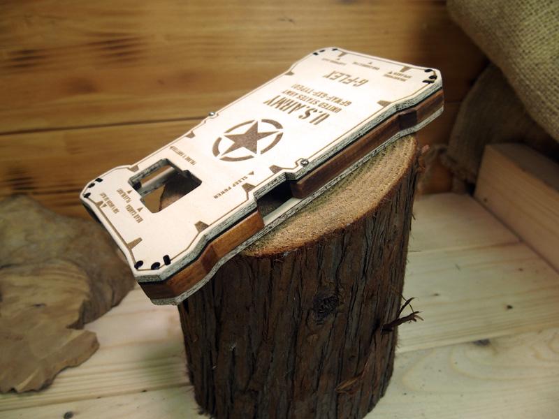 Galaxy Feel 木のケース