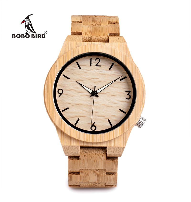 竹製腕時計