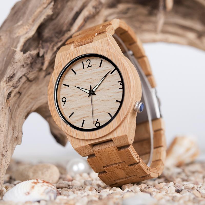 ボボバード 竹製腕時計