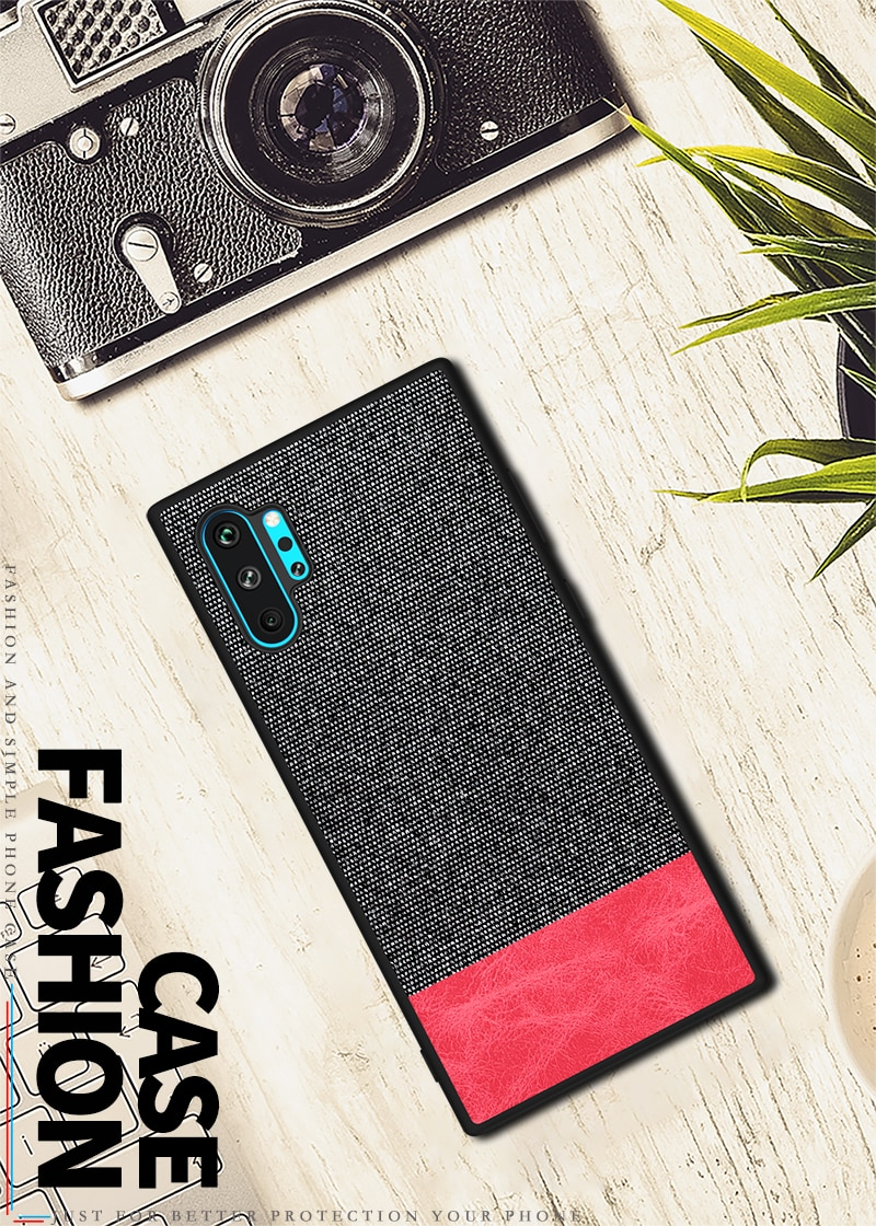 Galaxy Note10+ ジーンズ生地かわいいケース