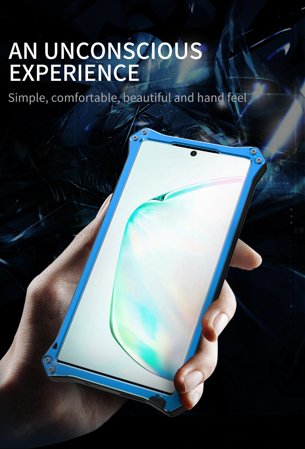 Galaxy Note10+ 強化ガラス付き