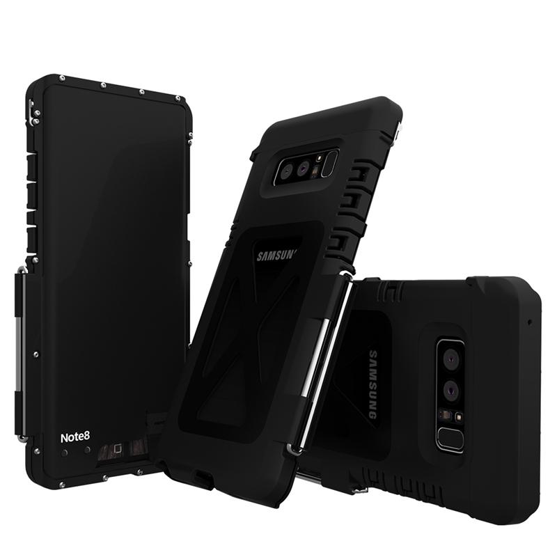 Galaxy Note8 耐衝撃ケース ステンレス