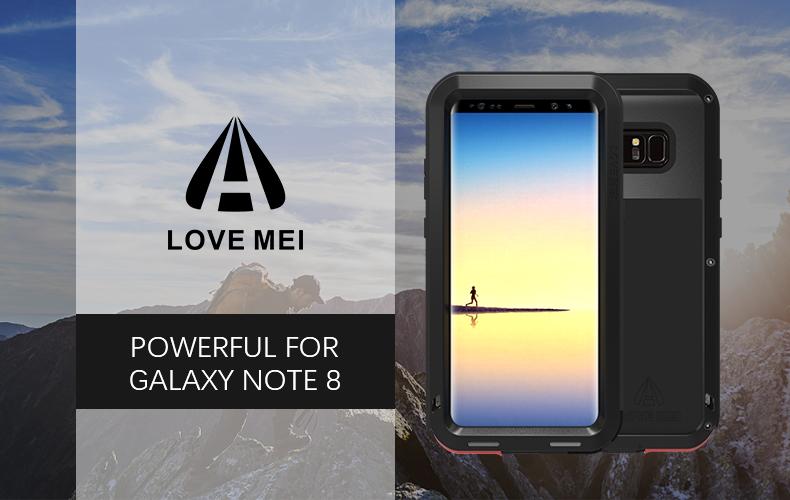 galaxy note8 メタルフルカバー