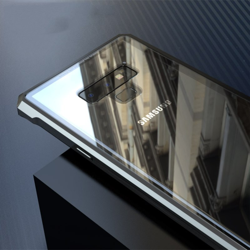 galaxy note9 アルミバンパー 強化ガラス
