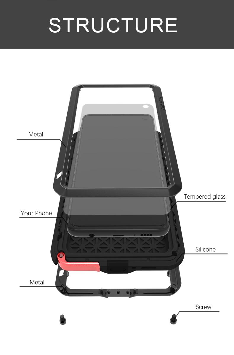 Galaxy S10 メタルフルカバー
