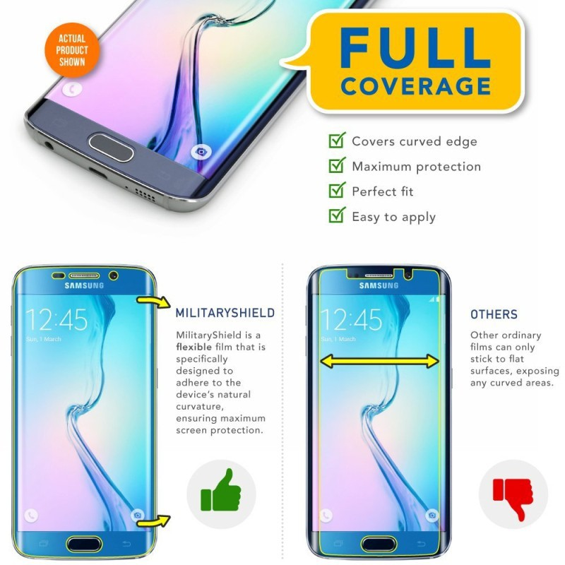 Galaxy S7 edge 立体曲面 液晶保護フィルム