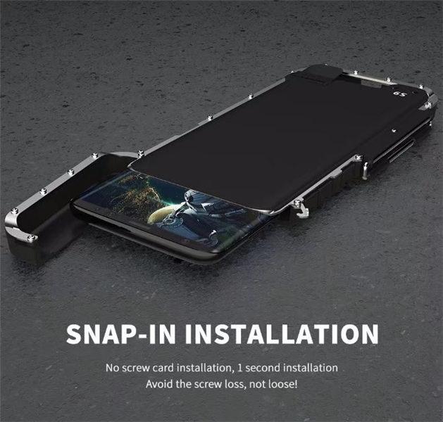 ギャラクシー S9 メタルケース 迷彩