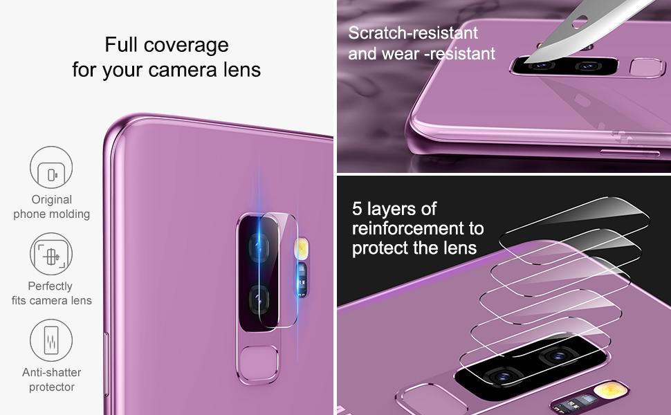 galaxy s9 カメラレンズプロテクター