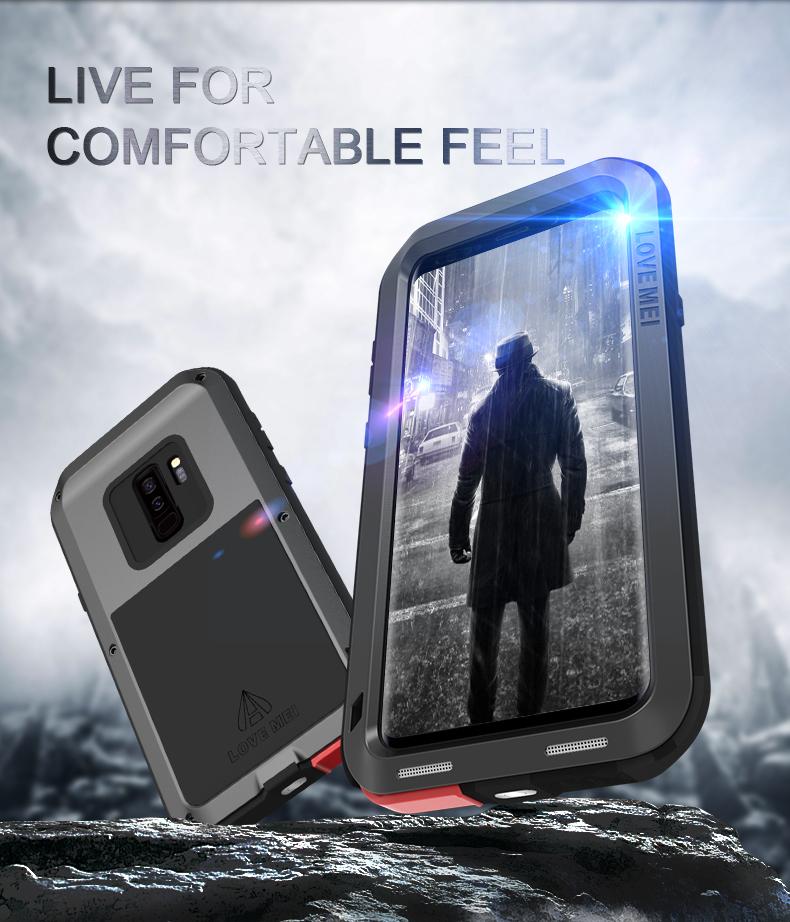 galaxy S9+ メタルフルカバー