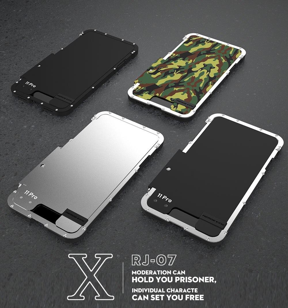 iPhone 11 pro max 耐衝撃ケース 横開き メタルケース