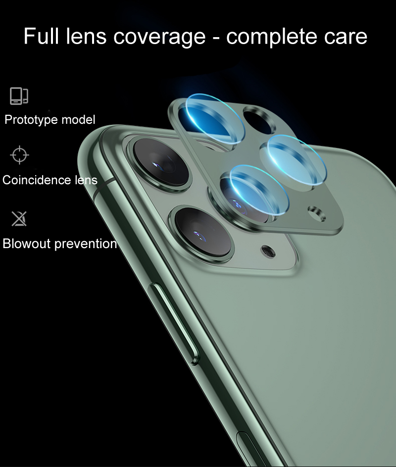 iPhone 11 pro カメラレンズ アルミフレーム