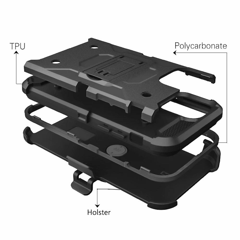 iPhone11 pro ホルスター付き 耐衝撃ケース