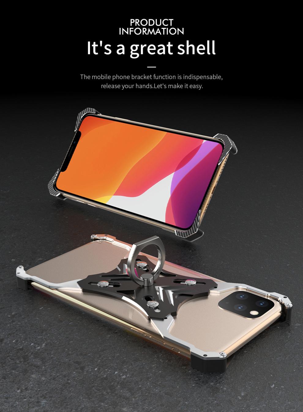 iPhone 11 pro Max 耐衝撃 メタルケース