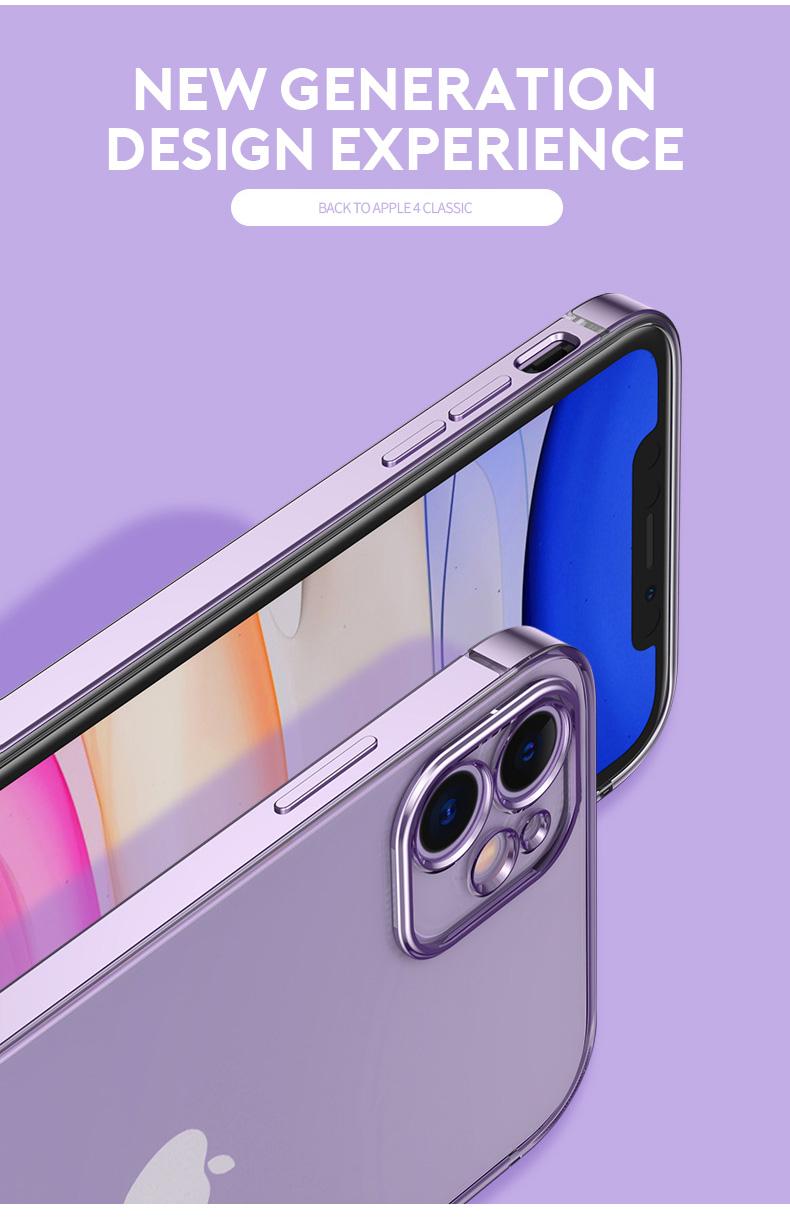iPhone 12 耐衝撃 クリアケース