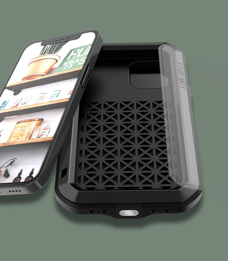 iPhone12 タフケース メタル