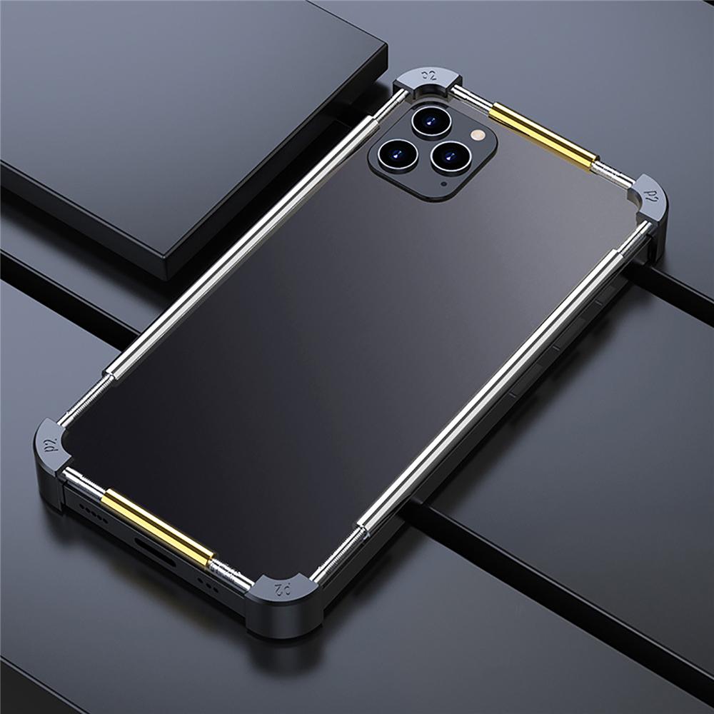 iPhone 12 耐衝撃 アルミバンパーケース