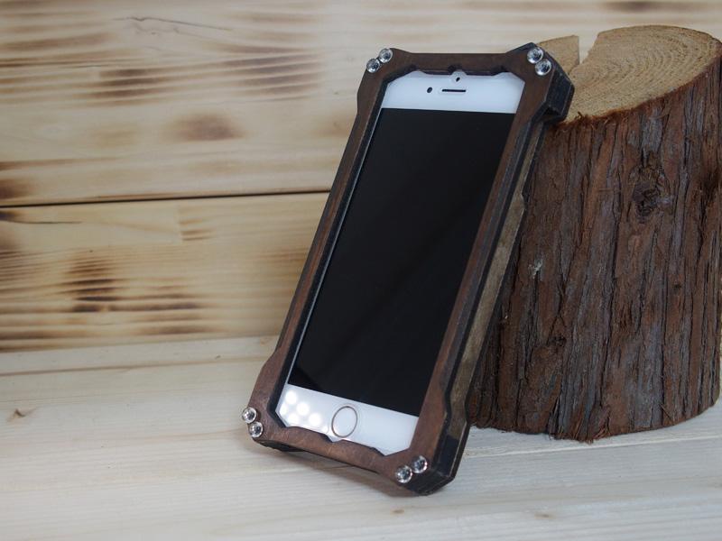 iphone6s ブラックウォールナット