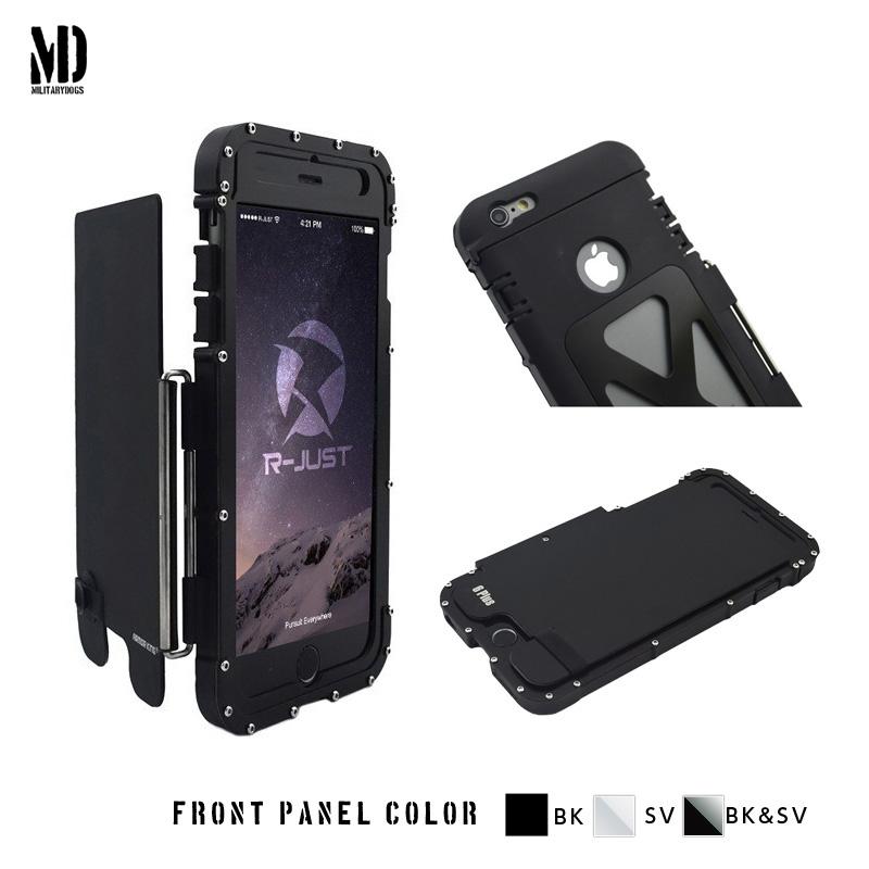 iphone6s 耐衝撃ケース 横開き メタルケース