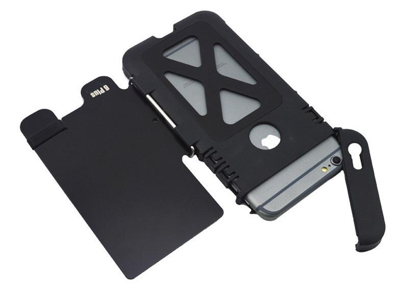 iphone6s plus 耐衝撃ケース 手帳型 メタルケース