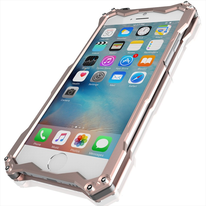 iphoneSE アルミバンパー ブルメタ