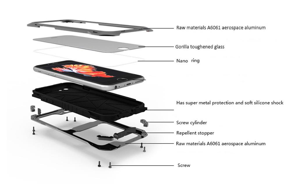 iphone6s plus 耐衝撃 強化ガラス付き