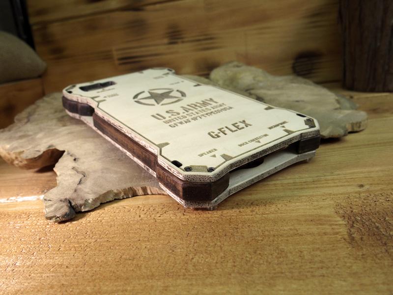 iPhone8 耐衝撃ウッドケース