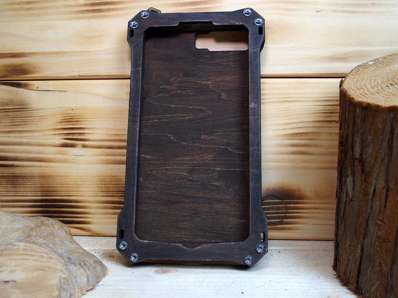 iPhone8 plus plus ウッドケース