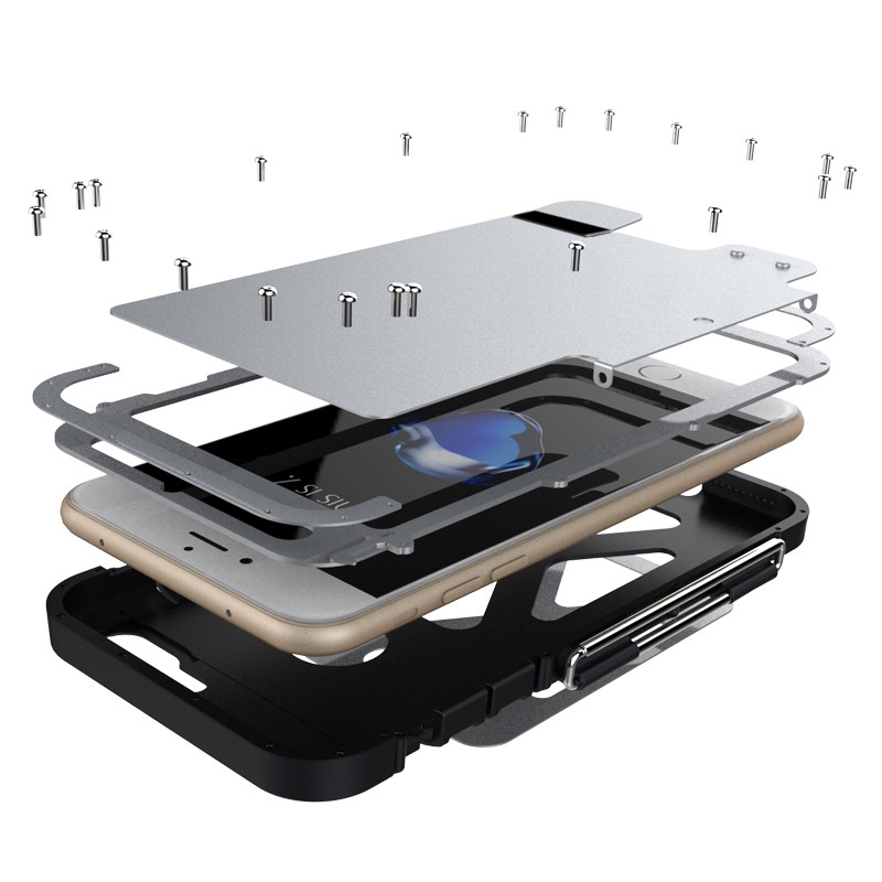 iPhone8 耐衝撃ケース ステンレス