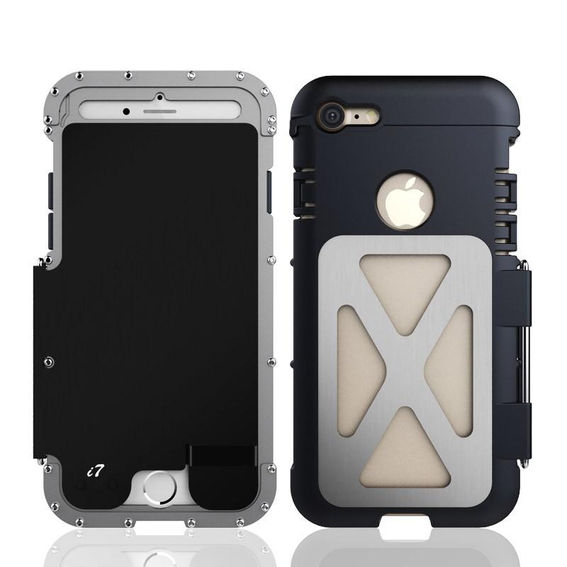 iPhone7 タフケース ステンレス