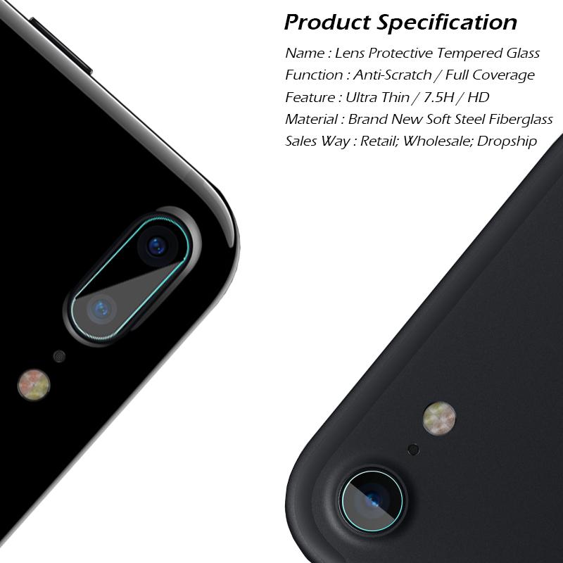 iPhone8 カメラレンズ ガラスフィルム