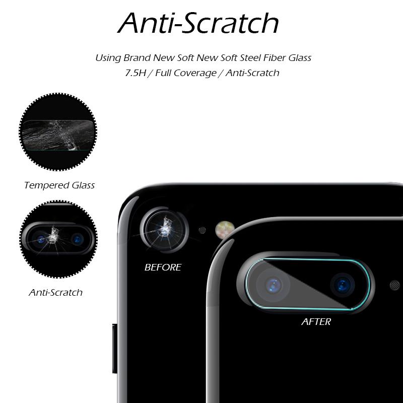 アイフォン8 カメラレンズ 強化ガラス