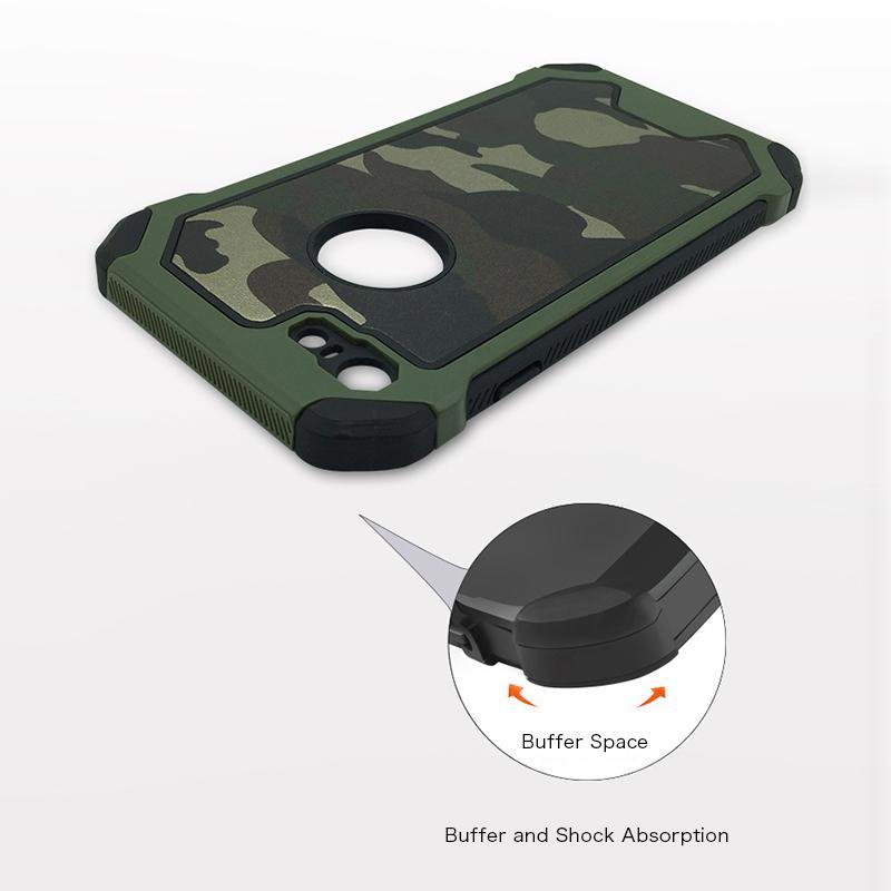 iPhone8 耐衝撃 迷彩