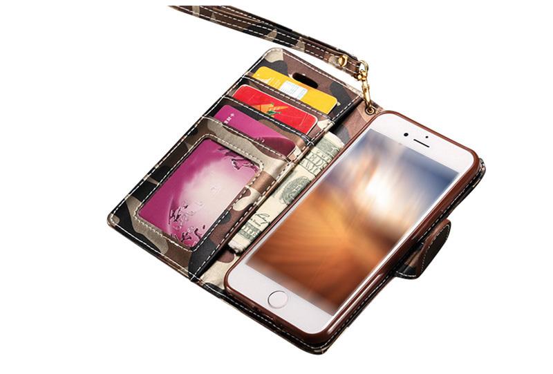iPhone8 迷彩 手帳型