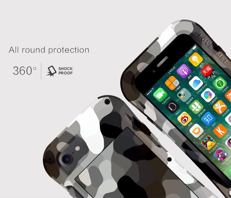 iPhone8 メタルフルカバー