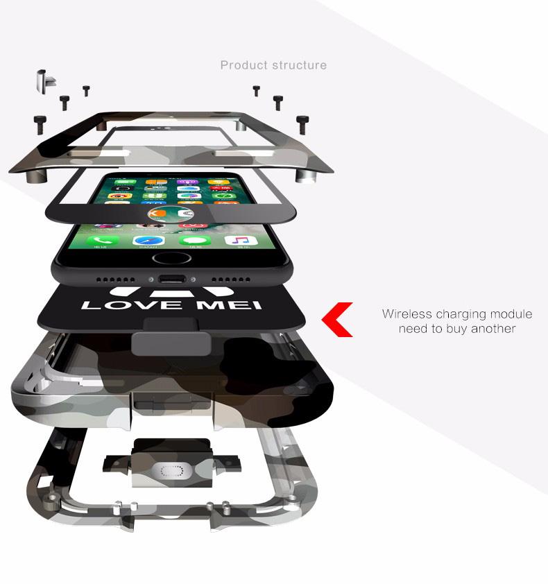 iPhone8 タフケース メタル