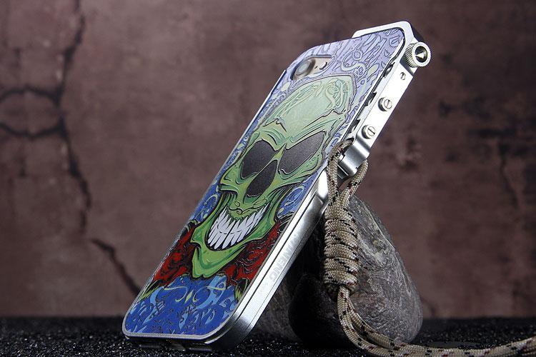 iPhone8 ドクロ アルミバンパー