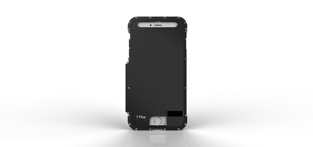 iPhone7 Plus 耐衝撃ケース 手帳型 メタルケース