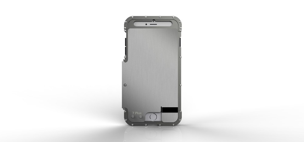 iPhone7 Plus 耐衝撃ケース ステンレス