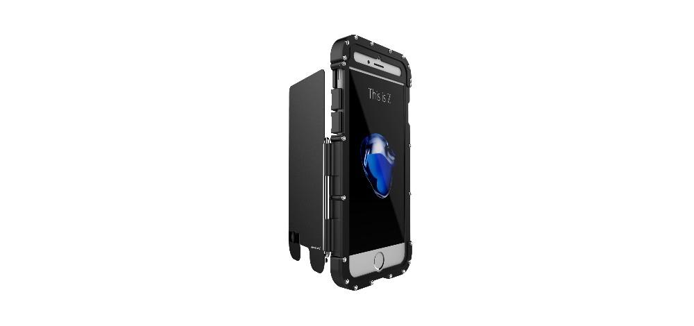 iPhone7 Plus タフケース ステンレス