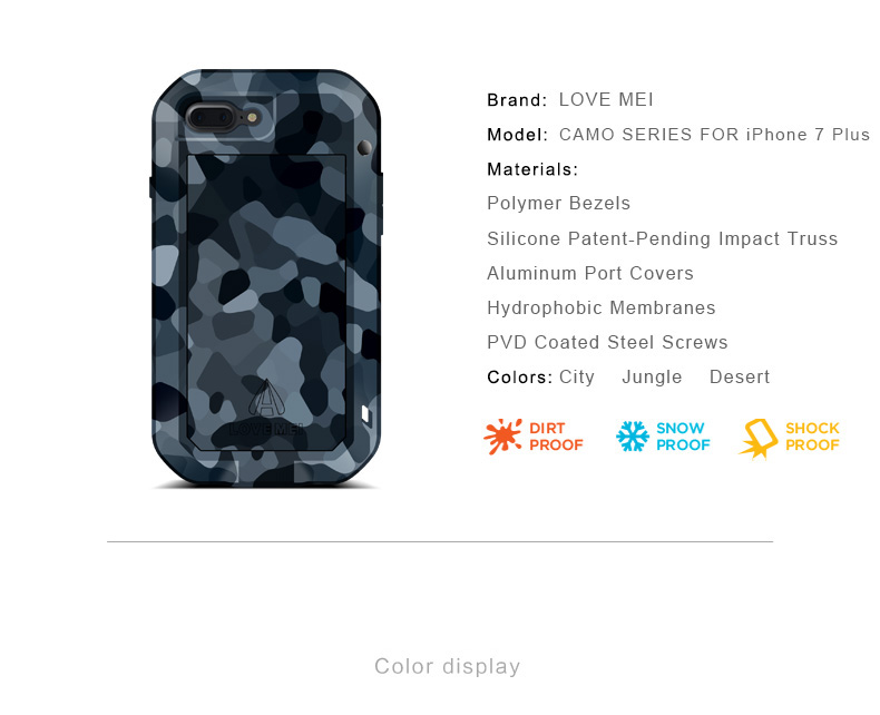 iPhone7 plus 迷彩ケース