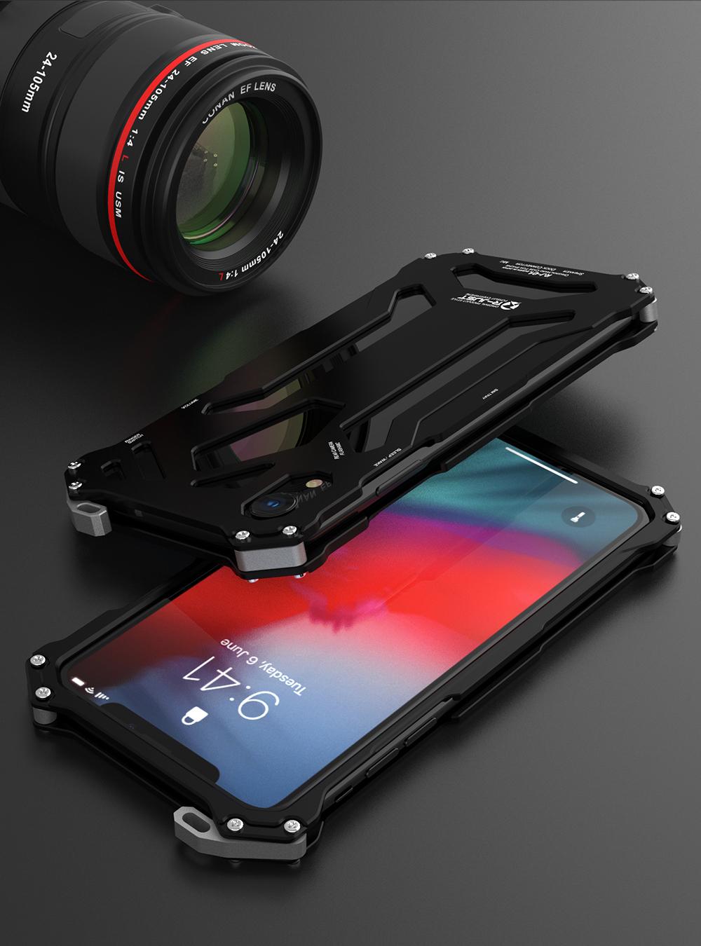 iPhone XR メタル 耐衝撃
