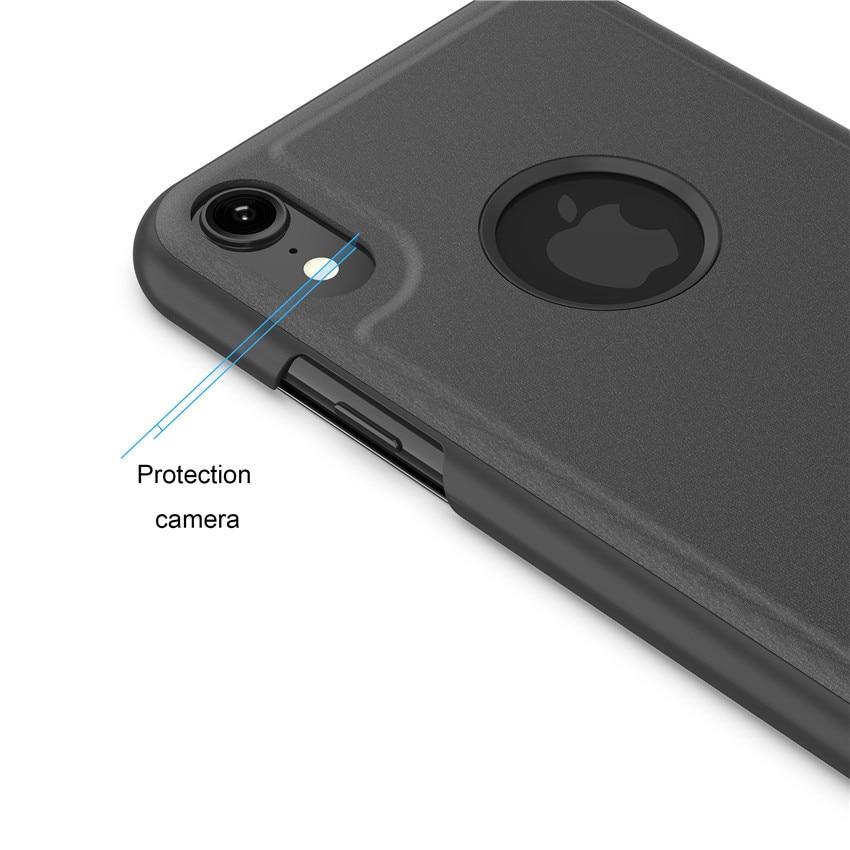 iphone XR ケース 蓋の上から操作