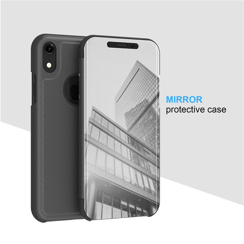 iphone XR ケース 鏡面カバー