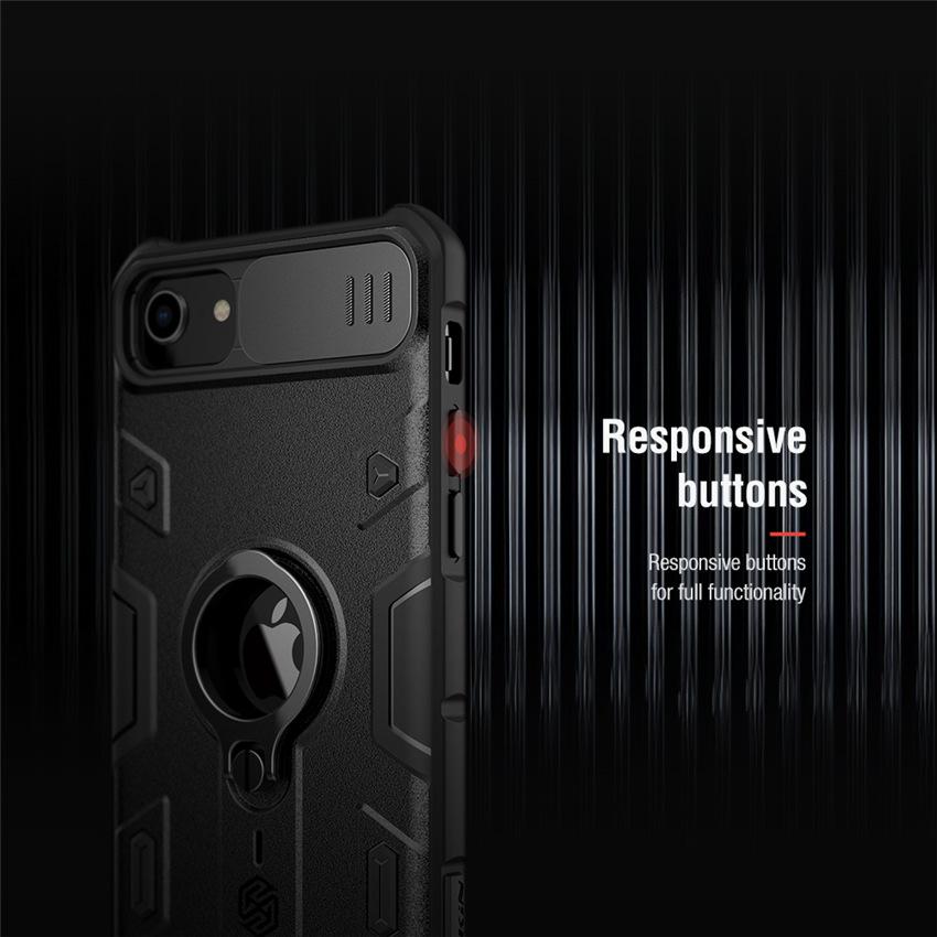iPhone SE カメラレンズ蓋つきケース