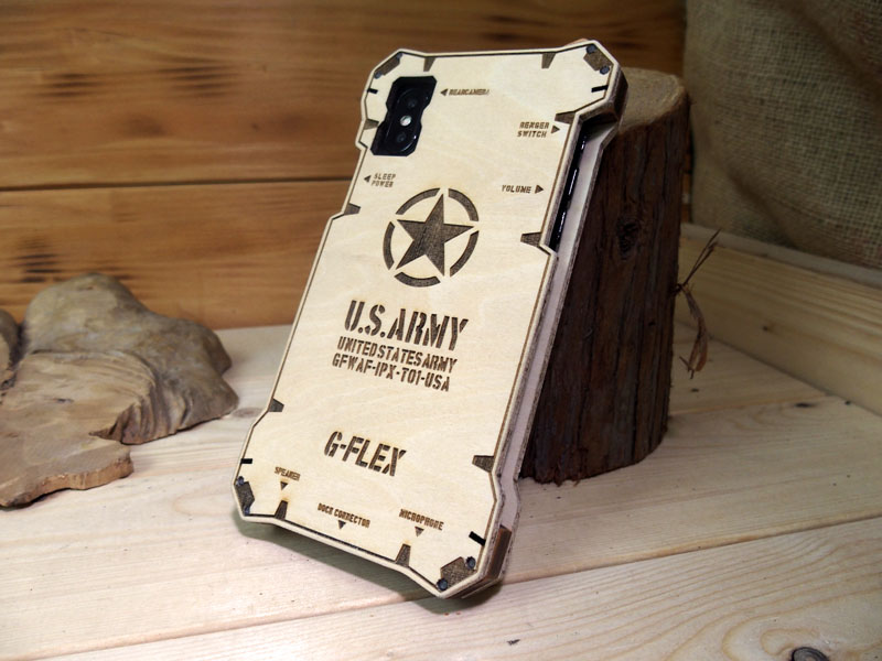 アイフォンX ウッドケース GFWAF-IPX-TYPE01-USA-NA