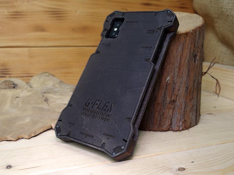 iphone x ウッドケース