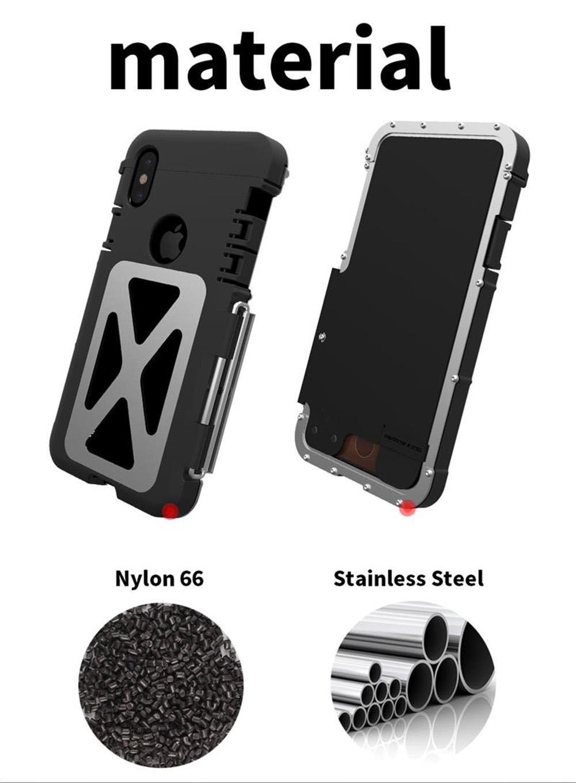 iPhone X ステンレスケース