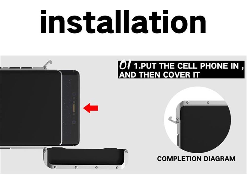 iiPhone XS メタルケース