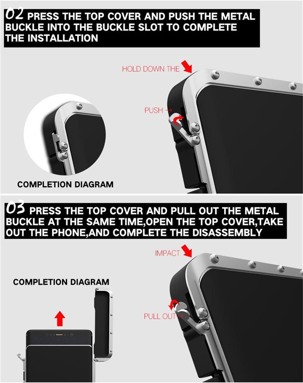 iiPhone XS メタル 手帳型ケース