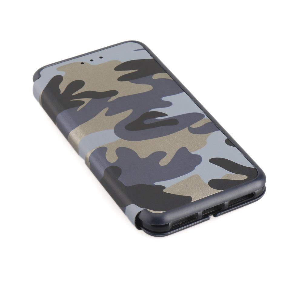 iPhone X 着脱式 手帳型 カモフラージュ
